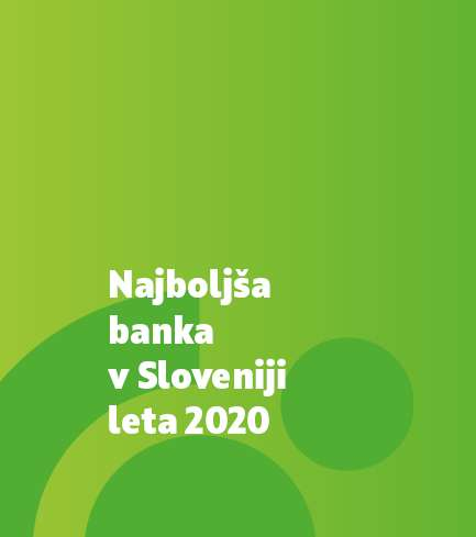 SKB Bank awarded as »Best Bank in Slovenia for the year 2020«